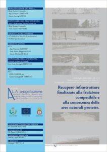 Brochure istituzionale di 12 schede che ha la funzione di illustrare il recupero delle infrastrutture finalizzate alla fruizione compatibile e alla conoscenza delle aree naturali protette per il Comune di Laterza.